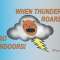 When Thunder Roars Go Indoors