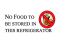 no food to be stored in this refrigerator