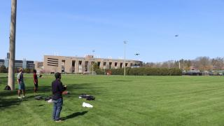 Flying Drones at Princeton